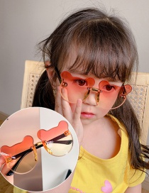 Fashion Red And Yellow Gradient Bear Children's Uv Protection Bear Sunglasses