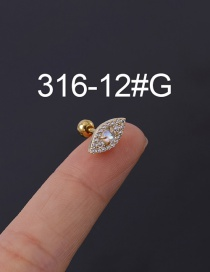 Fashion 12#g Stainless Steel Thick Rod Screw Ball Ear Studs