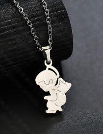 Fashion Boy Gang Color Angel Pendant Necklace
