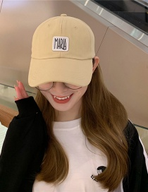 Fashion Beige Beige Alphabet Baseball Cap