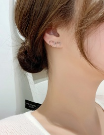 Fashion Silver Color Geometric Love Ear Bone Clip