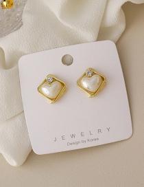 Fashion Gold Color Love Imitation Pearl Earrings