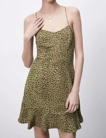 Fashion Green Printed Mini Dress