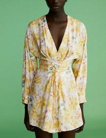 Fashion Color Flower Print Dress