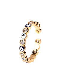Fashion Gold Color Zircon Eye Ring