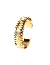 Fashion Gold Color Zircon Open Ring