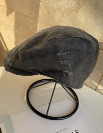 Fashion Gray Reverse Beret Cap