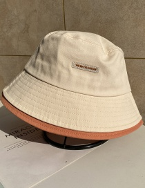 Fashion Beige Letter Double Layer Fisherman Hat