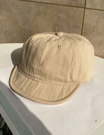 Fashion Beige Short Brim Soft Brim Soft Top Solid Color Baseball Cap