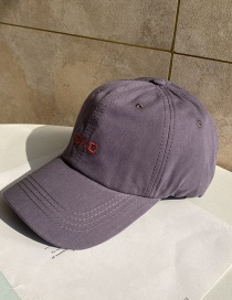 Fashion Gray Letter Embroidered Soft Top Baseball Cap