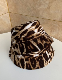Fashion Coffee Shade Leopard Fisherman Hat