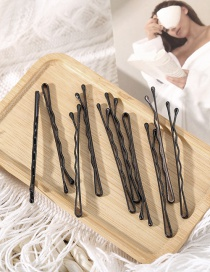 Fashion Black 10 Pieces One-word Hairpin