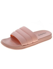 Fashion Pink Candy Color Flat Sandals