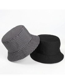 Fashion Black Plaid Double-sided Plaid Sun Hat