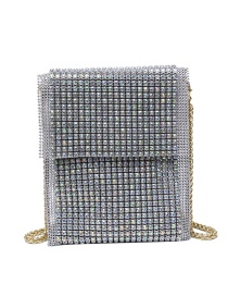 Fashion Silver Color Rainbow Bright Diamond One-shoulder Messenger Bag