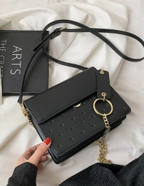 Fashion Black One-shoulder Chain Crossbody Bag