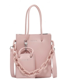Fashion Pink Hand-held Chain Diagonal Bag