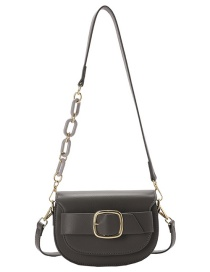 Fashion Gray Semicircle Acrylic Chain Crossbody Bag