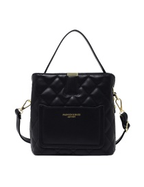 Fashion Black Rhombus One-shoulder Messenger Bag
