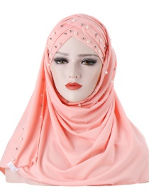 Fashion Snow Bud Double-layer Cap With Milk Silk Beads