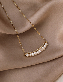 Fashion White Pearl Freshwater Pearl Necklace
