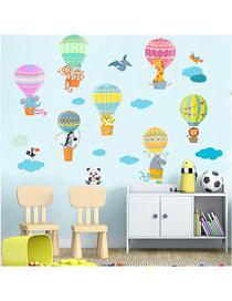 Fashion 30*90cmx2 Pieces In Bag Packaging Cartoon Hot Air Balloon Monkey Animal Wall Sticker Self-adhesive