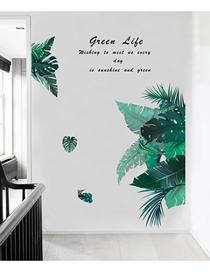 Fashion 58*90cm Green Leaf Wall Stickers