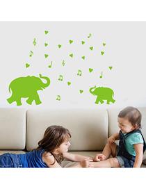 Fashion 20*30cm Luminous Cartoon Baby Elephant Music Wall Sticker