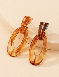 Fashion Amber Resin Amber Ear Studs
