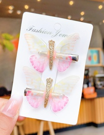 Fashion Gradient Powder Children's Color Butterfly Hairpin