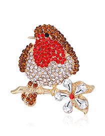Broche De Pájaro De Diamantes De Aleación