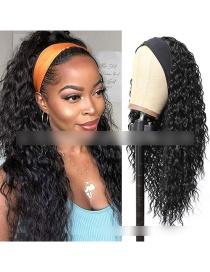 Fashion 1 Long Hair With Turban Chemical Fiber Wig