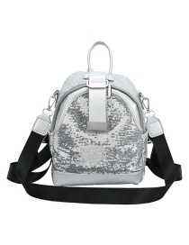Fashion Silver Sequined Back Crossbody Bag