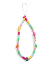 Fashion Color Contrasting Color Fruit Beaded Mobile Phone Chain