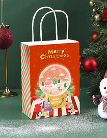 Fashion Red And Green Stripes Christmas Medium (width 21 Height 27 Measuring Width 11cm) Christmas Printed Paper Bag