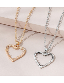 Fashion Color Mixing Hollow Love Alloy Multilayer Couple Necklace