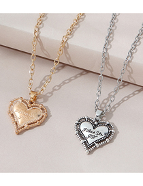 Fashion Color Mixing Letter Love Alloy Multilayer Couple Necklace