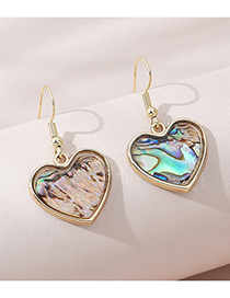 Fashion Gold Color Resin Peach Heart Alloy Earrings