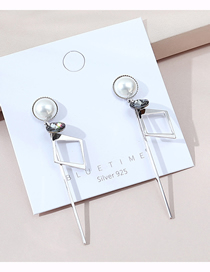 Fashion Silver Real Gold Plated Crystal Pearl Earrings