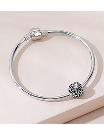 Fashion Silver Color Flower Round Bead Bracelet
