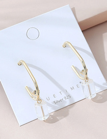 Fashion Golden Real Gold Plated Crystal Glass Earrings