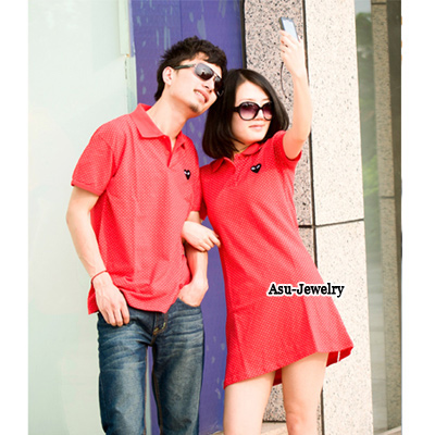 Hardy Red Fashion Pur Color Design Cotton Lover Suit