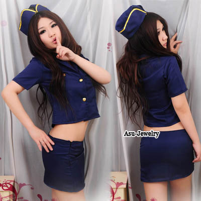 Shade Blue Policeman Game Uniform Cotton Role Playing Reviews