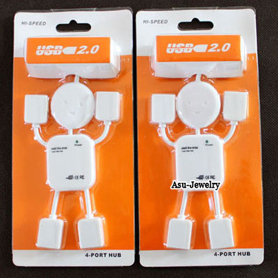 Practical lovely White New Human Shape USB 2.0