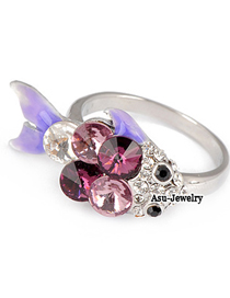 Lace Purple Goldfish Alloy Fashion Rings