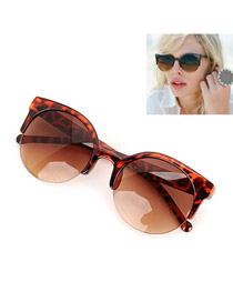 Lilac With Leopard Frame Fashion Half Frame Design