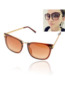 Madewell With Brown Frame Fashion Classic Vintage Resin Women Sunglasses