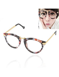 Foldable With Gold Color Frame Fashion Arrows Design Resin Sunglasses