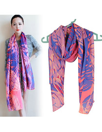Synthetic Blue Multi Color Matching Voile Fashion Scarves