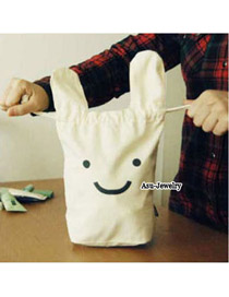 Luxury White Cute Rabbit Design Cotton Household goods